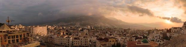 Panorama av Tetouan, Marocko Arkivbilder