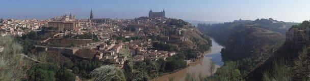 Panorama av Toledo Arkivbild