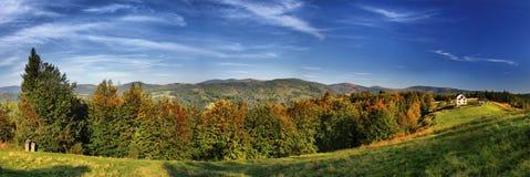 Panorama av Trzy Kopce Fotografering för Bildbyråer