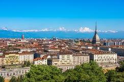 Panorama av Turin horisont Royaltyfri Foto