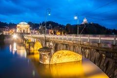Panorama av Turin, Italien. fotografering för bildbyråer