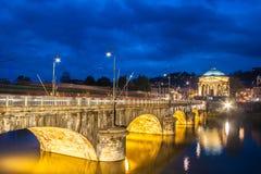 Panorama av Turin, Italien. Arkivbilder