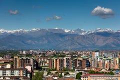 Panorama av Turin, Italien Royaltyfri Foto