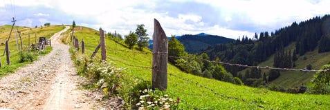 Panorama av vägen Fotografering för Bildbyråer
