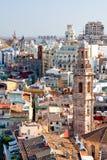 Panorama av Valencia från en hög poäng spain Arkivbild