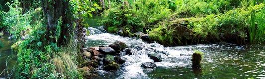 Panorama av vattenfallet Arkivfoto