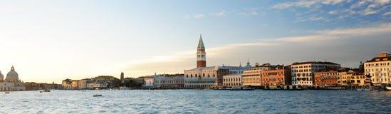 Panorama av Venedig Arkivbilder