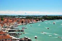 Panorama av Venedig Arkivfoton