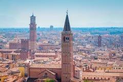 Panorama av Verona Fotografering för Bildbyråer