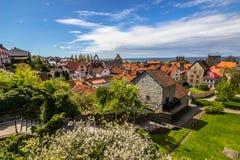 Panorama av Vik i Gotland, Sverige arkivbilder