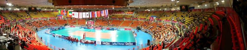 Panorama av volleyboll WGP Arkivbild