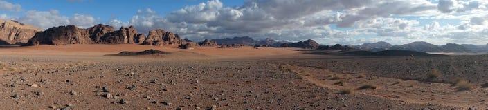 Panorama av Wadi Rum arkivbild