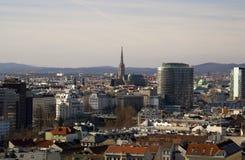Panorama av Wien Royaltyfria Foton