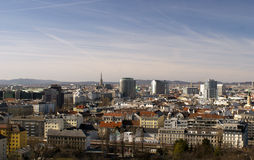 Panorama av Wien Arkivfoto
