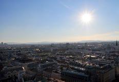 Panorama av Wien från Sts Stephen domkyrka royaltyfria bilder