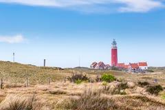 Panorama avec le phare Texel Pays-Bas photographie stock libre de droits