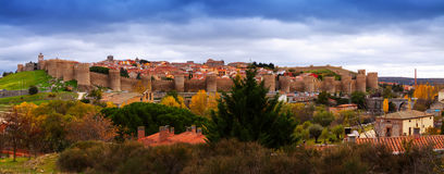 Panorama of  Avila. Spain Royalty Free Stock Photography