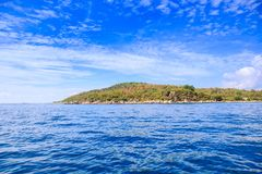View of Azure Sea Green Hill Island Sky Royalty Free Stock Images