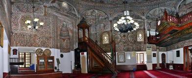 Panorama, bóveda interior de la mezquita del bey de Ethem, Tirana foto de archivo libre de regalías