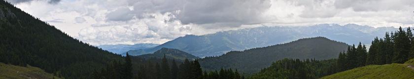 Panorama background in Carpathians. Stock Image