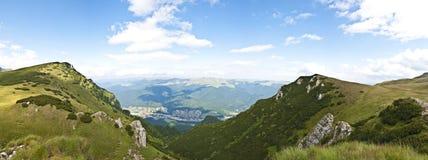 Panorama background in Carpathians. Stock Image