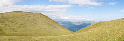Panorama background in Carpathians. Royalty Free Stock Image