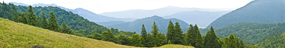 Panorama background in Carpathians. Royalty Free Stock Images