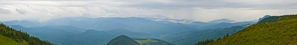 Panorama background in Carpathians. Stock Photo