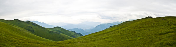 Panorama background in Carpathians. Royalty Free Stock Photography