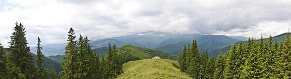 Panorama background in Carpathians. Royalty Free Stock Photos