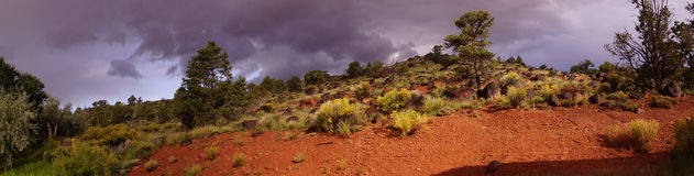 Panorama, Backlit desert landscape Stock Images
