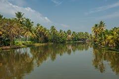 Backwaters of Kerala, India Stock Images