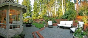 Panorama of backyard