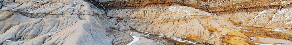 Panorama of badlands royalty free stock photography