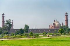 Panorama of Badshahi Mosque Royalty Free Stock Photo