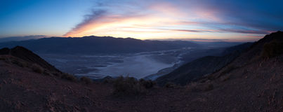 Panorama of Badwater Basin, Death Valley Stock Image
