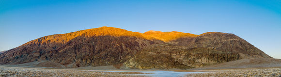 Panorama of Badwater sunset in Death Valley Stock Photos