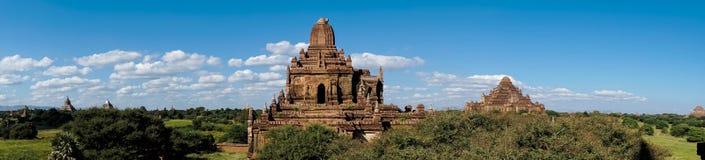 Panorama of Bagan Temples in Myanmar, Burma Royalty Free Stock Photos