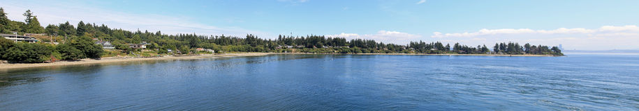 Panorama of Bainbridge Island Stock Photography