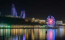 Panorama Bakou photographie stock