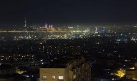 Panorama Baku Royaltyfri Bild