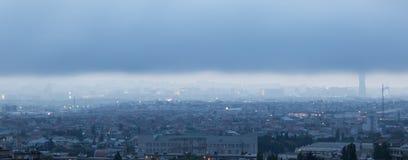 Panorama Baku Arkivfoto