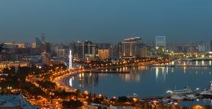 Panorama Baku Royaltyfri Fotografi