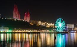 Panorama Baku. Azerbaijan caspian sea Royalty Free Stock Photography