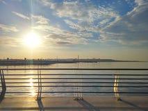 Panorama Baku Boulevard on a sunny morning Stock Photo