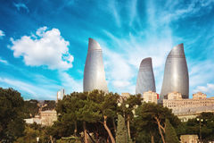 Panorama of Baku city, Azerbaijan Stock Photos