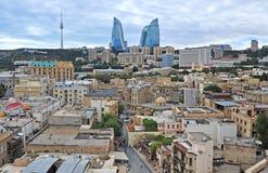 Panorama of Baku city centre. Azerbaijan Royalty Free Stock Photo