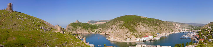 Panorama of the Balaklava bay Stock Images