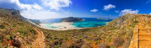 Panorama of Balos beach on Crete Stock Photography