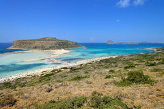 Panorama of Balos Lagoon Royalty Free Stock Image